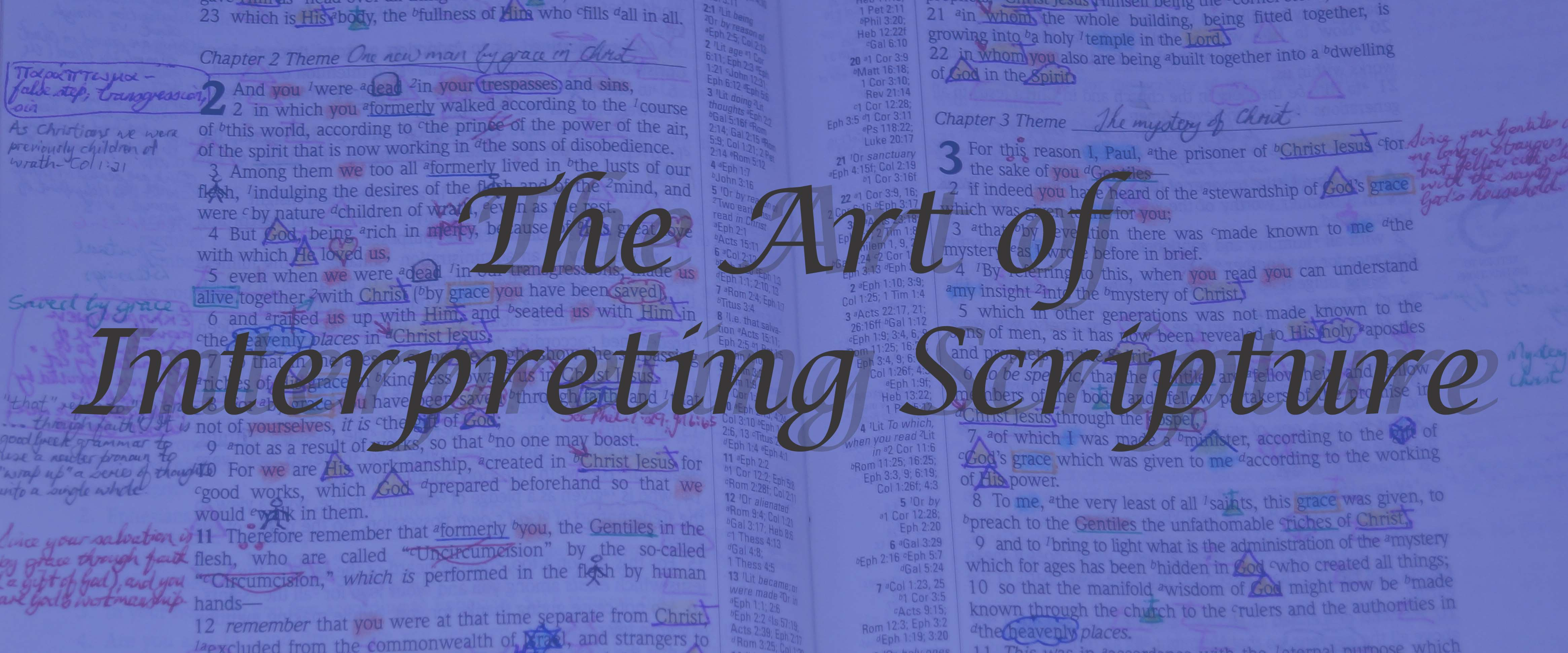 The Art of Interpreting Scripture